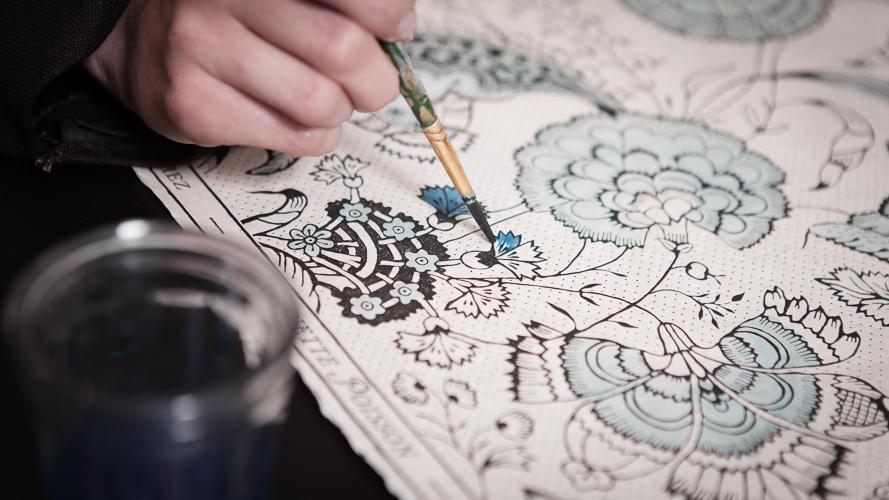 antoinette poisson et l 39 art du papier peint dominot. Black Bedroom Furniture Sets. Home Design Ideas