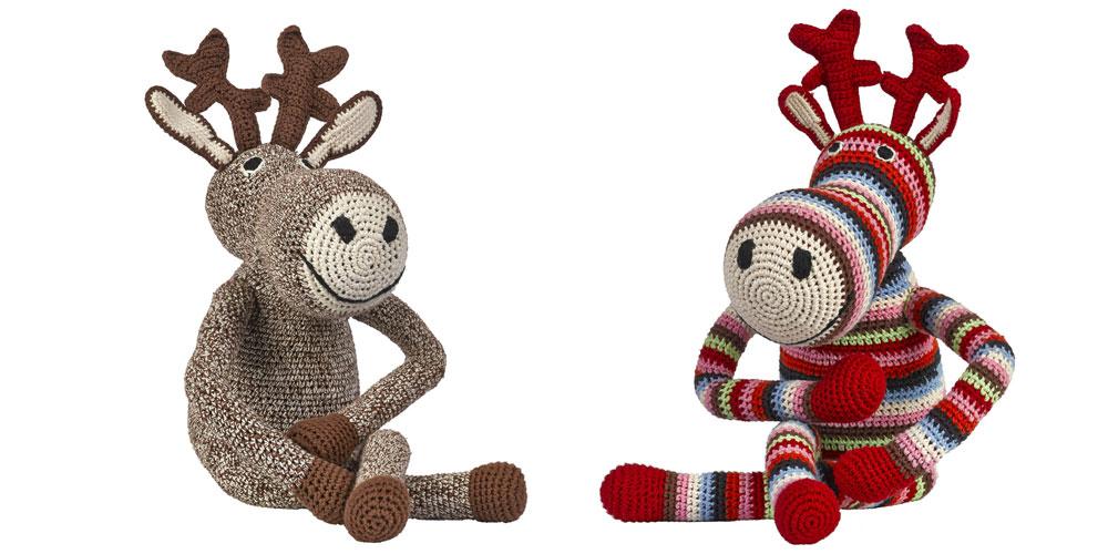 Les rennes en crochet d'Anne-Claire Petit, coloris Choco ou Multi