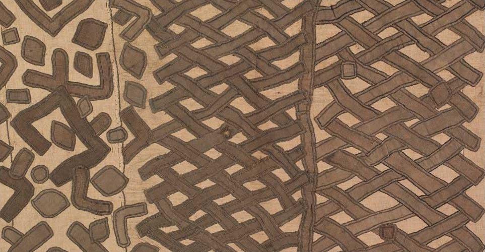 Tissu raphia (peuple Kuba) milieu du XXe siècle, Honolulu Museum of Art