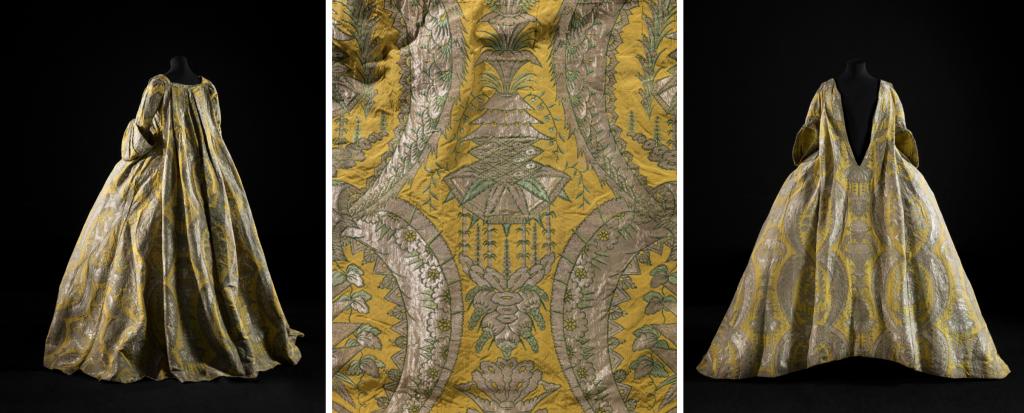 Robe volante lampas de soie, vers 1730. - ©Julien Vidal/ Palais Galliera