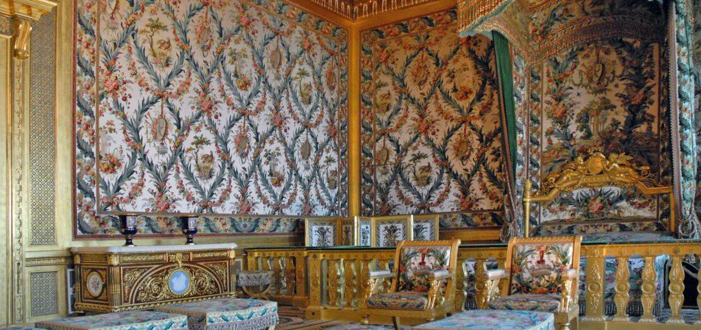 Le lampas broché de la chambre de l'Impératrice - Château de Fontainebleau