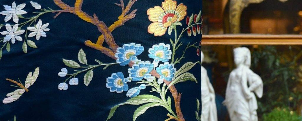 Tissu Lampas Jardin d'hiver - Tassinari et Chatel