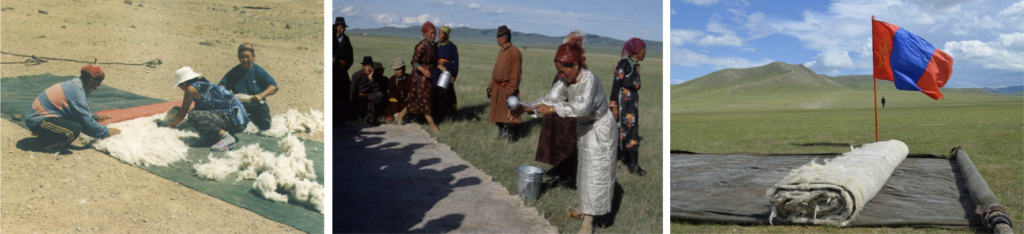 Le feutre en Mongolie