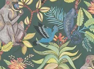 Papier peint tropical tapisseries motifs palmiers et jungle - Papier peint tropical ...