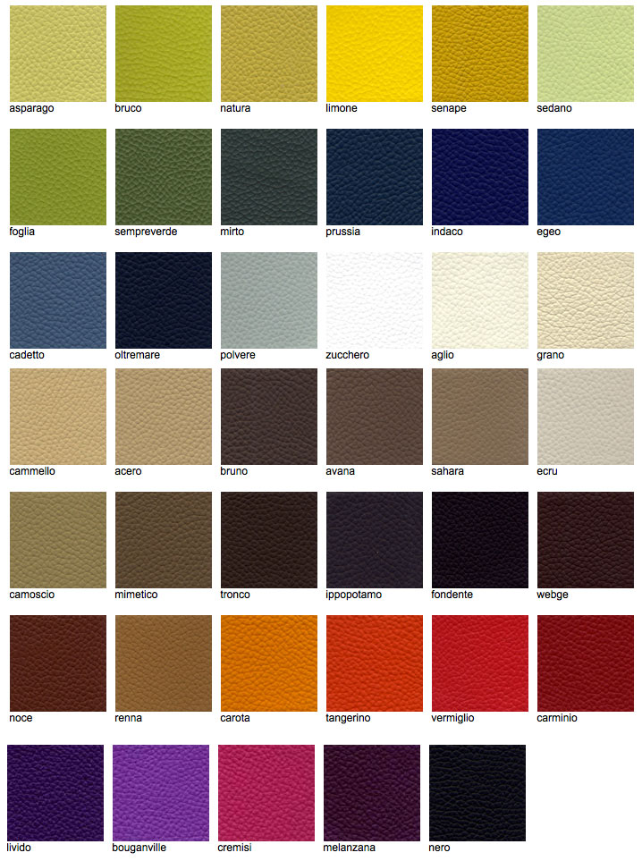 Designers Guild furniture leather colour chart